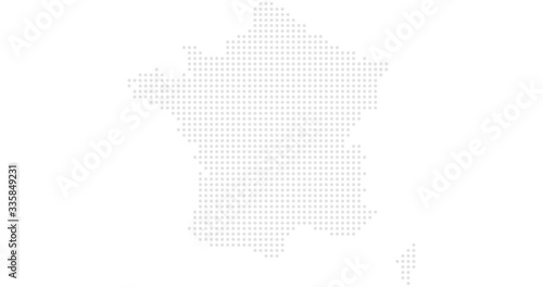 Photo France country map backgraund made from halftone dot pattern, Vector illustratio
