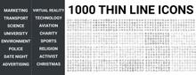 Big Set Of 1000 Thin Line Icon...