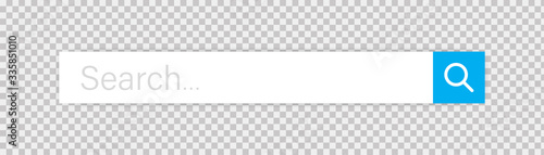 Stampa su Tela Search bar vector isolated web element on transparent background