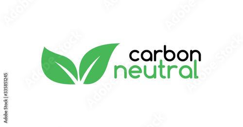 Carbon neutral icon logo Canvas Print