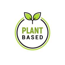 Plant Based Vegan Badge Eco Ic...