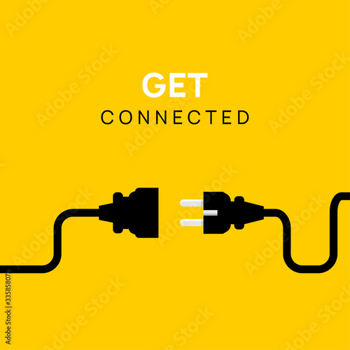 Canvastavla Electric Plug connect concept socket