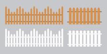 Wooden Fence Illustration. Far...