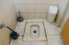 Squatting Public Toilet In A Turkish Restaurant