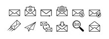 Mail Icon Set. Mail Delivery S...