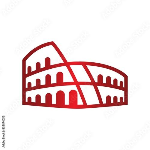 Fotografija red roma coloseum logo symbol icon