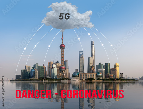 5G wireless networks have been accused in conspiracy theory of damaging immune s Canvas Print