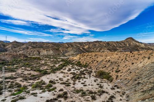 Fototapeta Tabernas desert, Desierto de Tabernas near Almeria, andalusia region, Spain