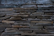 The texture of a stone wall made of rectangular strips