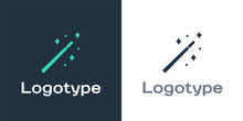 Logotype Magic Wand Icon Isola...