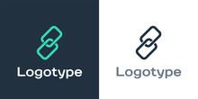 Logotype Chain Link Icon Isola...
