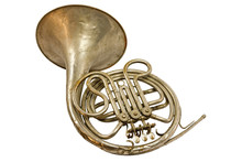 Old Vintage French Horn