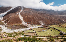 Picturesque View Of Moraines A...