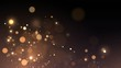 Vector background with golden bokeh dust, blur effect sparks