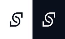 Minimalist Abstract Creative Elegant Line Art Letter S Logo.