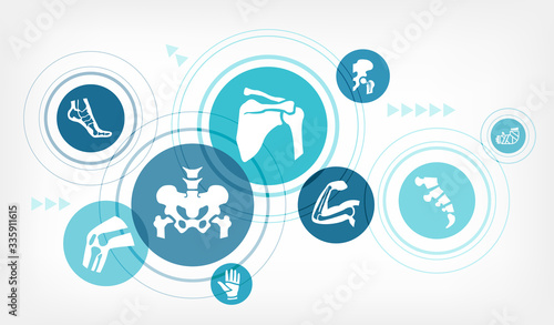 orthopedics vector illustration Wallpaper Mural