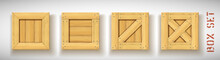 Pack Of Wooden Crate Mockups W...