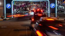 Cars In Queue At Entrance In U...