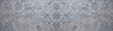 Old Gray Blue Vintage Shabby P...