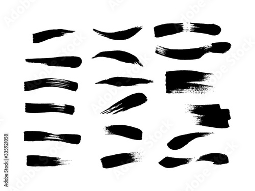 Fototapety, obrazy: Vector set of brushstrokes, lines, and design elements for drawing.