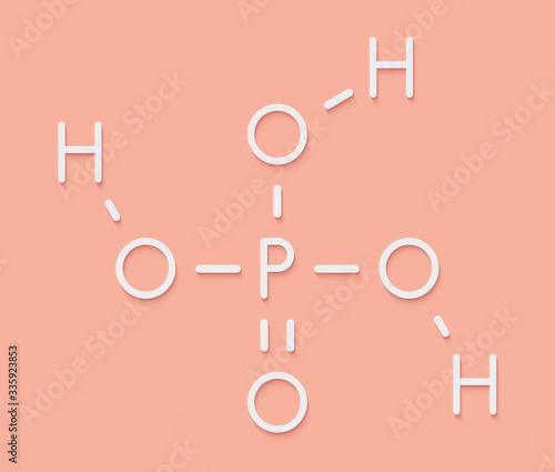 Phosphoric acid mineral acid molecule Canvas Print