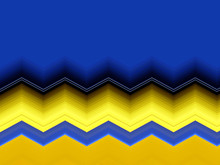 Blue And Yellow Zig Zag Backgr...