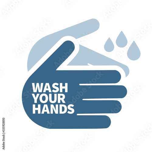 wash your hands sign icon message Wall mural