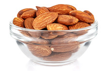 Almond Nuts In A Small Transpa...