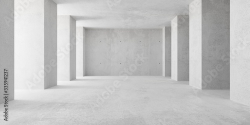 Cuadros en Lienzo Abstract empty, modern concrete room with indirect lighting from left side pilla