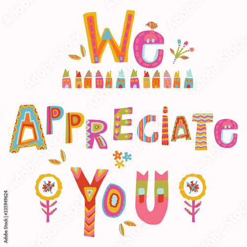 Fotomural We appreciate you to care and key workers