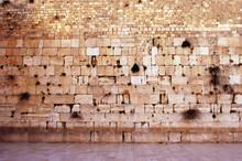 The Western Wailing Wall Kotel Empty In Jerusalem Old City Israel