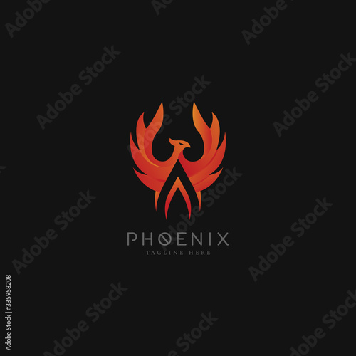 Photo Bird phoenix with initial A