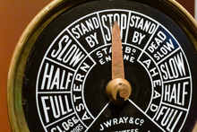 Detail Of Reproduction Of Titanic's Engine Telegraph