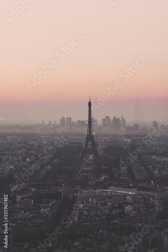 sunset over paris - 335967482