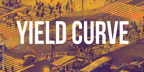 Yield Curve theme with a busy city intersection Canvas Print