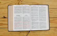 Open Bilingual Bible Book On A...