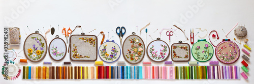 Needlework and embroidery Wallpaper Mural