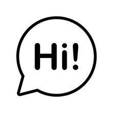 Chat, Hi Welcome Bubble Icon