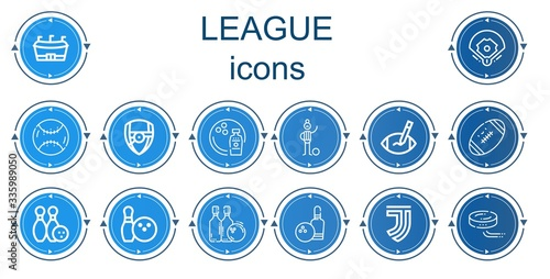 Editable 14 league icons for web and mobile Tableau sur Toile