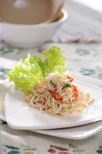 Sauteed Bean Sprouts And Anchovies - Tumis Tauge