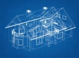 Fototapeta Sport - House Design blueprint