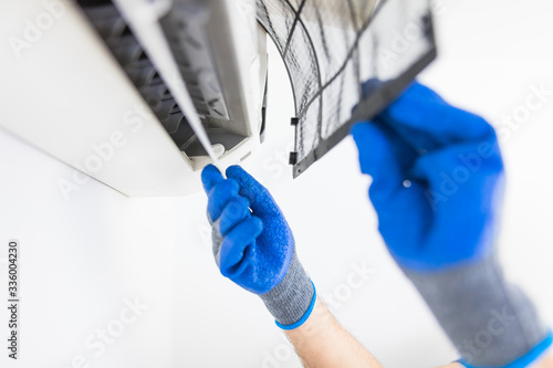 Photo Aircondition service and maintenance, fixing AC unit and cleaning the filters