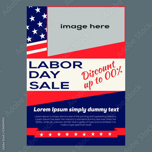 Labor day May day Sale flyer Design Template