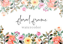 Abstract Floral Watercolor Bac...