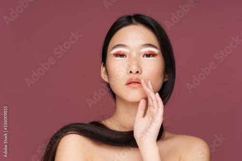 beautiful woman bare shoulders spa treatments clean skin