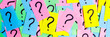 canvas print picture - question marks written reminders tickets