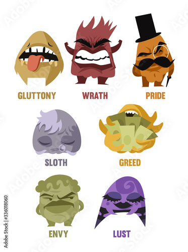 Photo seven deadly sins cartoon characters