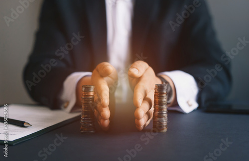 Photo Concept of  saving and investing
