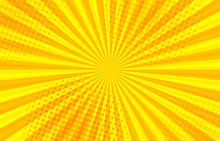 Comic Abstract Sunny Background