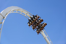Roller Coaster Twisting Upside...